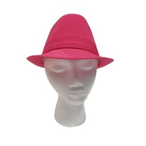 Hot Pink Fedora Style Hat NWT